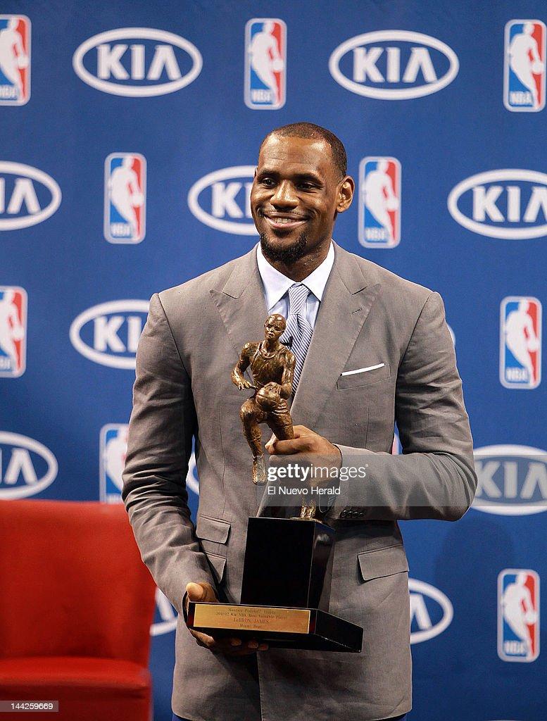 LeBron James Receives His 2012 NBA MVP Award