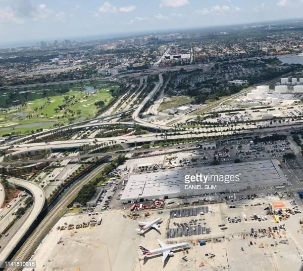 The Miami International Airport in seen April 29 2019 in Miami Florida