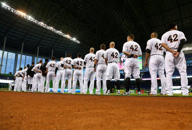 Miami Marlins on Jackie Robinson Day