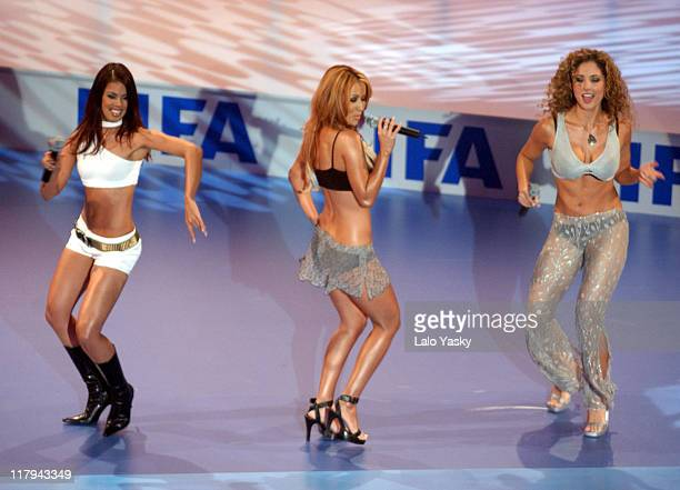 The Miami Sound Machine Perform During the FIFA World Player Gala 2002 at the Palacio de Congresos in Madrid