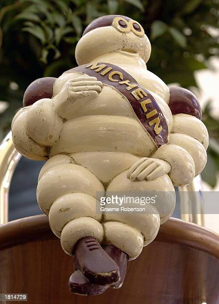 The Michelin Man mascot is shown at the Michelin headquarters February 25 2003 in London The French tire maker announced that its net profit nearly...