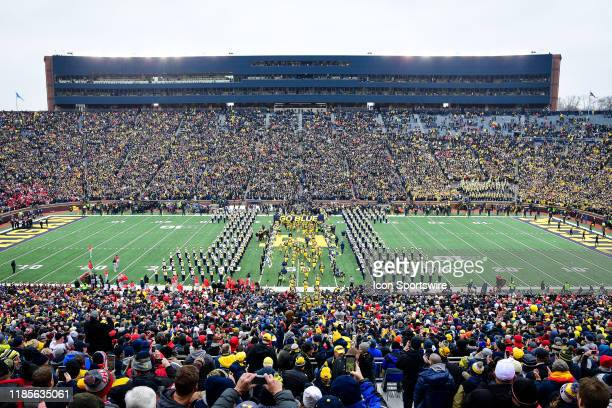 The Michigan Wolverines take the field during the Michigan Wolverines versus Ohio State Buckeyes game on Saturday November 30 2019 at Michigan...