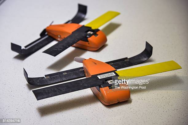 The Micro UAV Unmanned Aerial Vehicle called Perdix is displayed at the Defense Advanced Research Projects Agency building on Friday March 4 in...