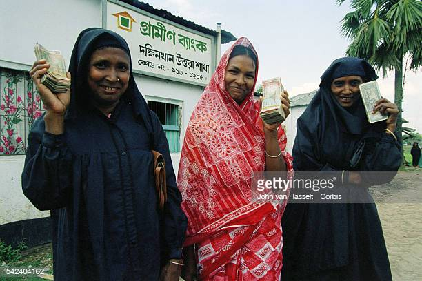 The microcredit program was created by the founder and directorof the Grameen Bank Mohammad Yunus | Location Sharifun Begeum Bangladesh