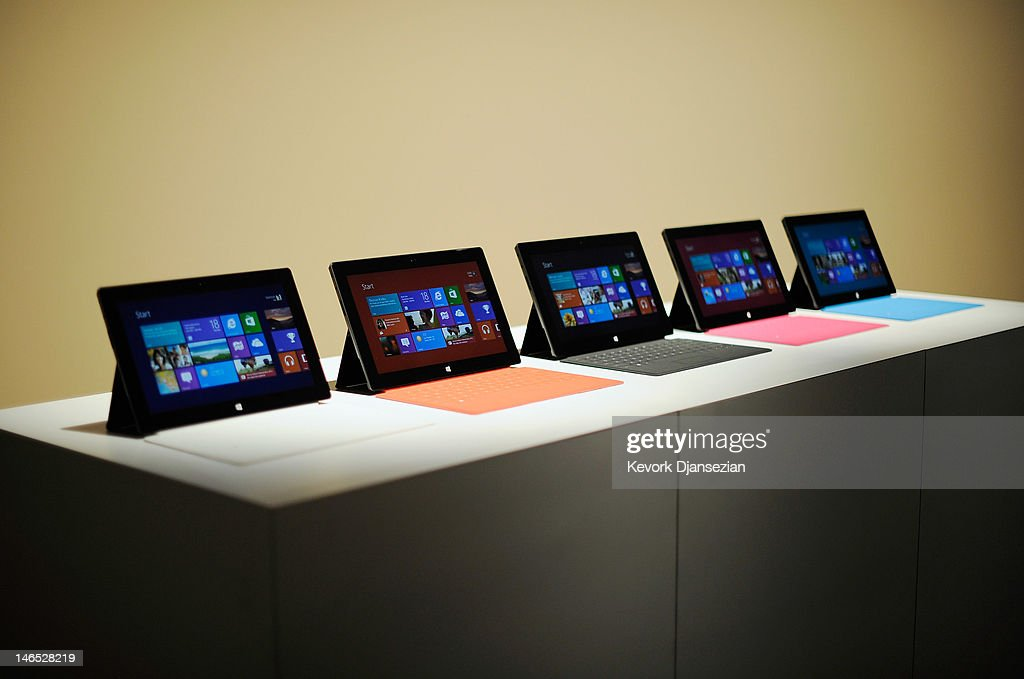 Microsoft Announces Surface Tablet In Los Angeles : News Photo