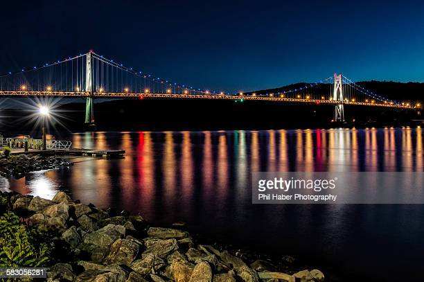 The Mid-Hudson Bridge in Evening