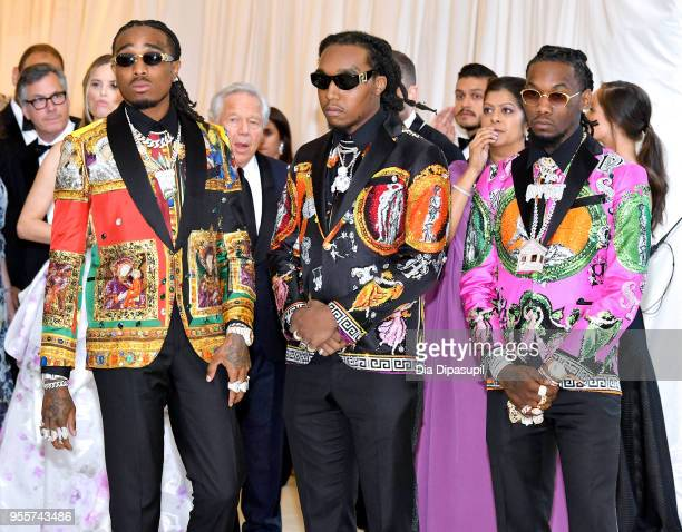 The Migos attends the Heavenly Bodies Fashion The Catholic Imagination Costume Institute Gala at The Metropolitan Museum of Art on May 7 2018 in New...