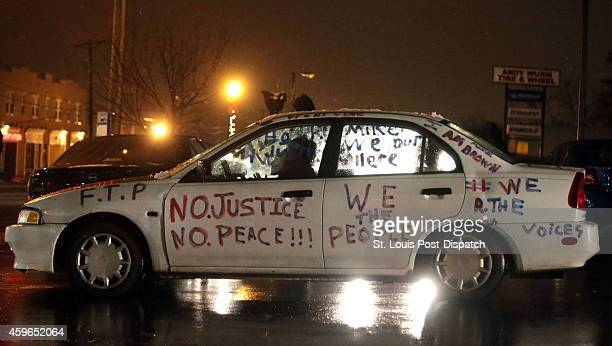 The Mike Brown mobile was out and about at the Ferguson Police Station demonstrating for justice on Wednesday Nov 26 2014