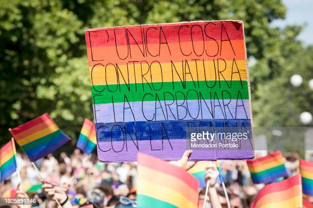 The Milan Gay Pride held at the Arco della Pace. Milan , June 26th, 2021