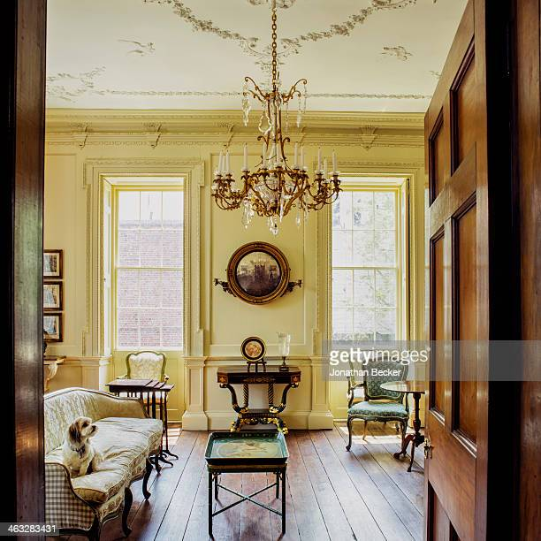 The Miles Brewton House home of cofounder of Charleston Academy of Domestic Pursuits Lee Manigault is photographed for Town Country Magazine on April...
