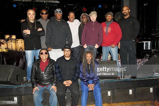 The Miles Davis Festival Band top row Mino Cinelu DJ Logic Vince Wilburn Jr Munyungo Jackson Blackbyrd McKnight John Beasley Darryl Jones and Gary...