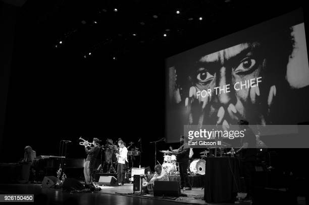 The Miles Electric Band Performs at Valley Performing Arts Center Robert Irving Darryl Munyungo Jackson David Gilmore Christian Scott Vince Wilburn...