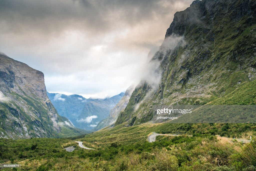 The Milford Sound fiord. Fiordland national park, New Zealand : Stock Photo
