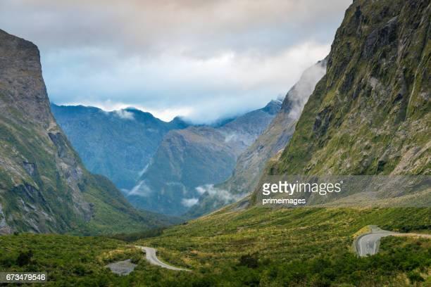 Le fjord de Milford Sound. Parc national de Fiordland, Nouvelle-Zélande