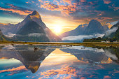 famous mitre peak rising from milford