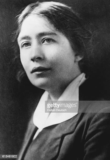 The militant suffragette Sylvia Pankhurst who campaigned for women's rights with her mother Emmeline and sister Christabel