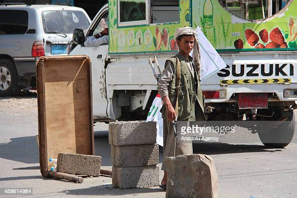 The militants of Shiite Ansarullah group known as Houthis settle in alUdayn district of Ibb governarate in Yemen after taking control of the city...