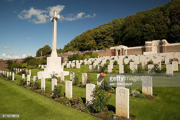 The military cemetery of The Treport is one of the Commonwealth war graves headstones these 441 graves mark the gratefulness of France This free gift...