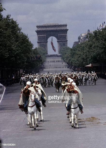 The Military Parade Of July 14Th 1989 France Paris période 19561958 Le défilé du 14 juillet sur l'avenue des Champs ElyséesLe Régiment de la...
