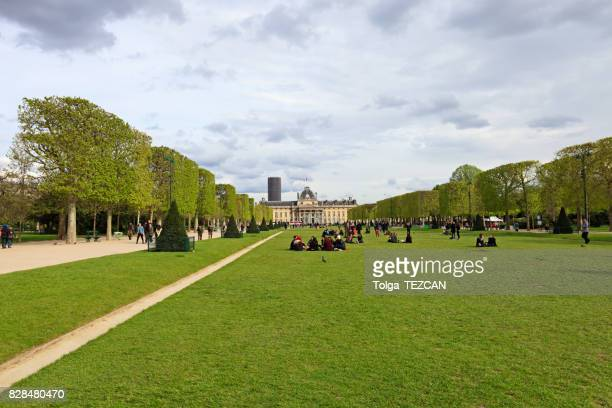 the military school in paris, france - mars roman god stock photos and pictures