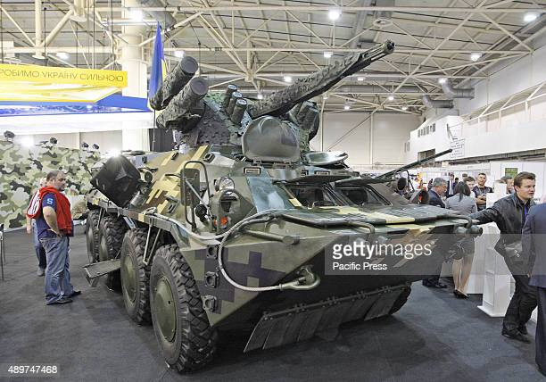 The military tank vehicle displayed at the Arms and Security 2015 exhibition The XII International Trade Fair 'Arms and Security 2015' is the most...