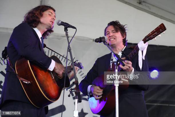 The Milk Carton Kids perform during day three of the 2019 Newport Folk Festival at Fort Adams State Park on July 28, 2019 in Newport, Rhode Island.