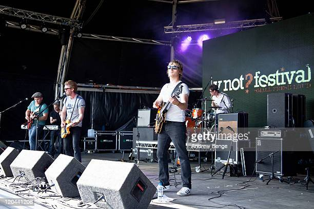 The Milk performs on stage during the first day of YNot Festival 2011 on August 5 2011 in Matlock United Kingdom