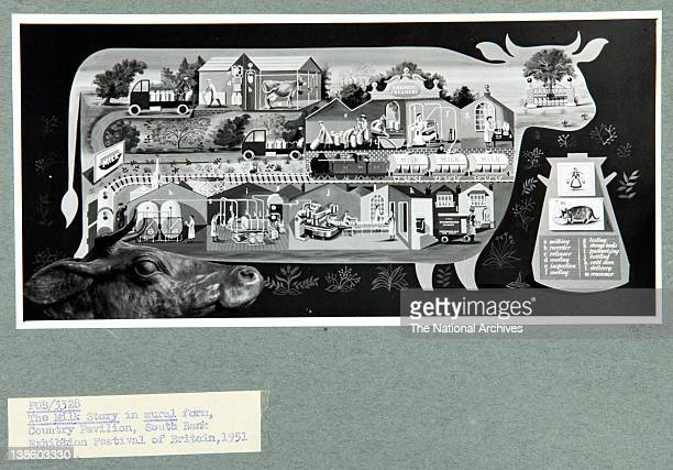 The Milk Story in mural form Country Pavilion South Bank Exhibition Festival of Britain 1951