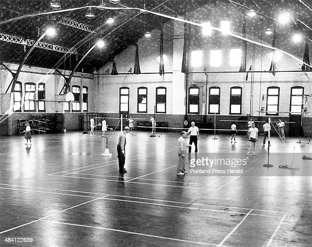 The Milk Street Armory was being used for five badminton courts under Parks and Recreation Department aegis creating a tremendous spurt for the sport...