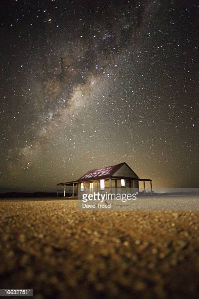 The Milky Way and an outback shed
