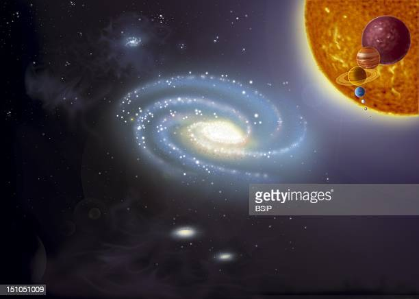 The Milky Way And He Relative Size Of The Smaller Celestial Bodies To The Sun The Size Of The Sun Compared In Decreasing Order To A Red Dwarf 0 2 X...