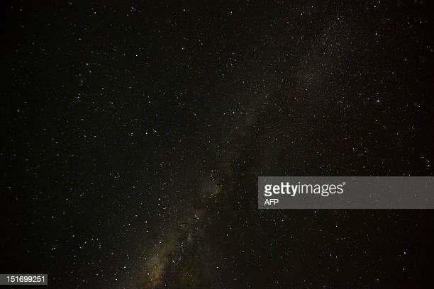 The milky way as seen from the Irotatheri community Amazonas state southern Venezuela 19 km away from the border with Brazil on September 7 2012 The...