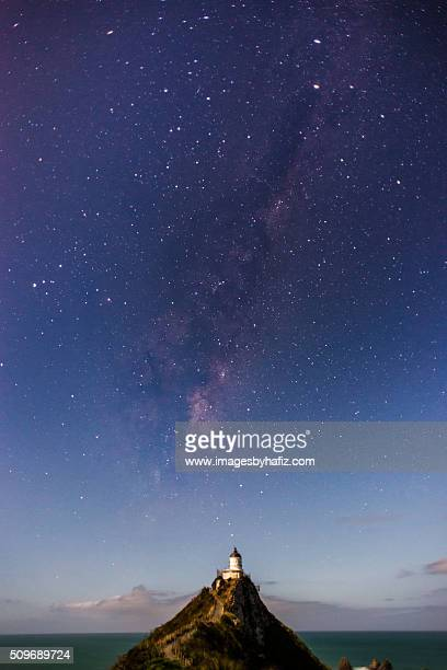 The Milky Way at Nugget Point Lighthouse