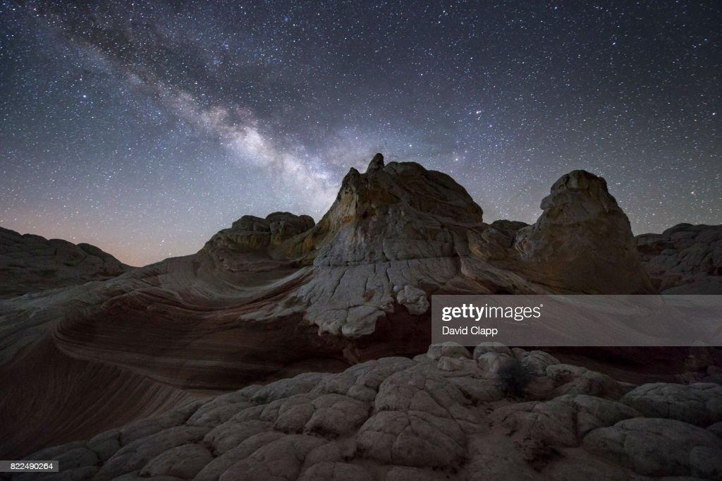 The Milky Way at White Pocket, Arizona, USA : Stock Photo