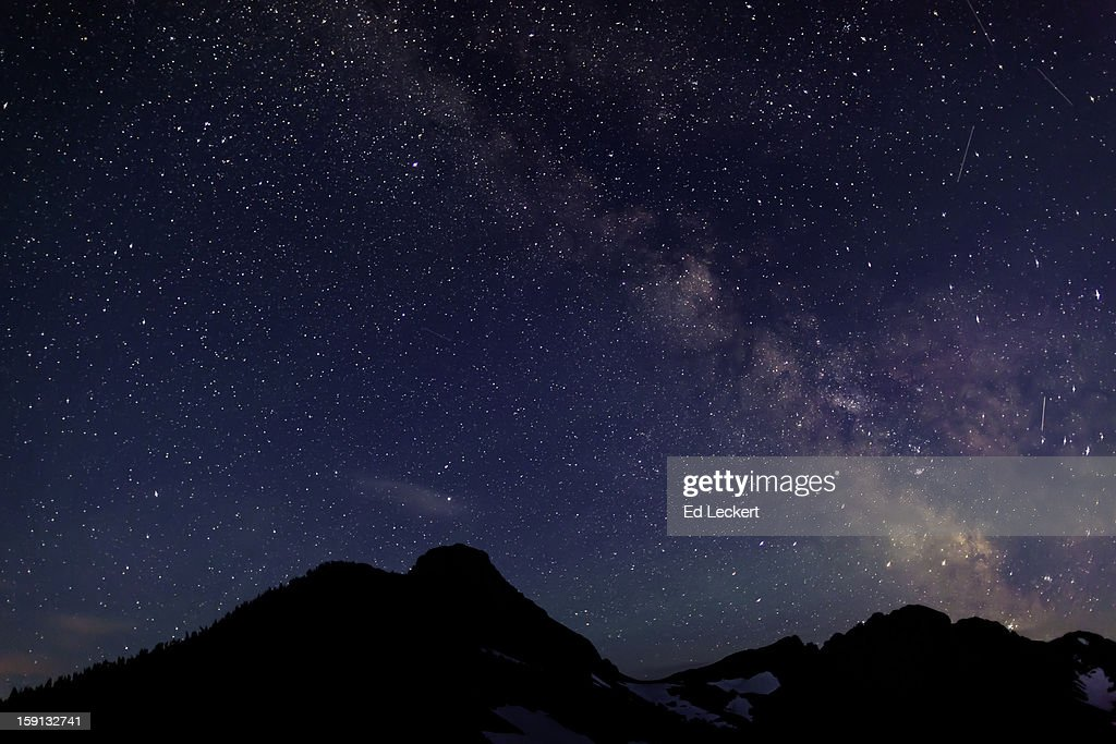 The Milky Way From Glacier National Park : Stock Photo