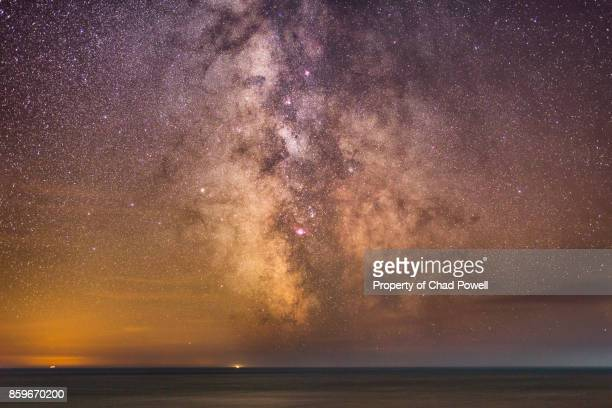 the milky way galaxy core - milky way stock pictures, royalty-free photos & images