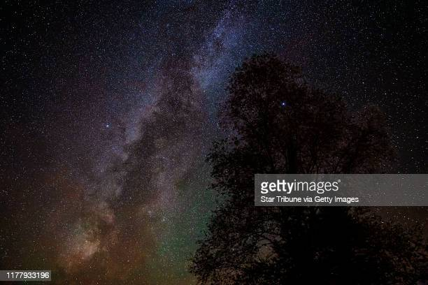 The Milky Way galaxy could be seen in the night sky around midnight on Saturday morning The KP index was high in the early morning hours of Saturday...
