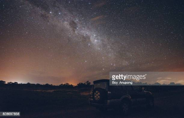 the milky way in the starry night of nhulunbuy the remote area town in northern territory state of australia. - northern territory australia stock photos and pictures