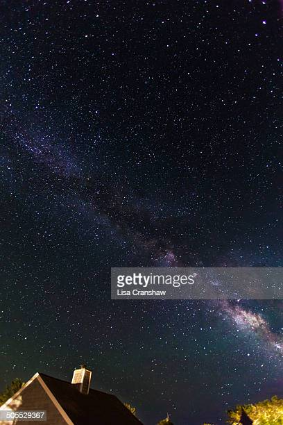 the milky way over cape cod - lisa cranshaw stock pictures, royalty-free photos & images