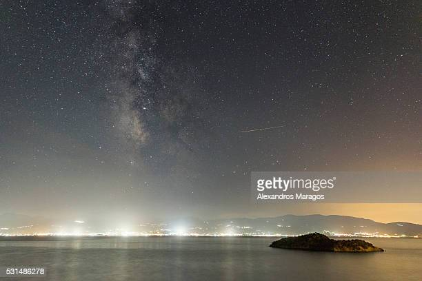 The Milky Way over the Gulf of Corinth, Greece
