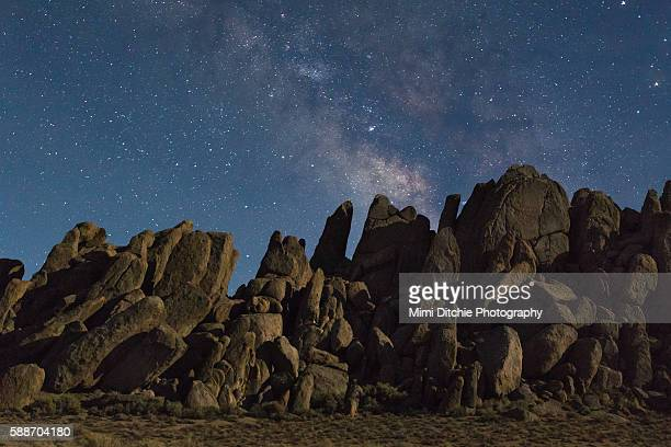 The Milky Way Over The Rocks