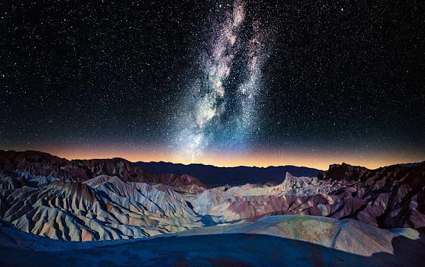 The Milky Way Over Zabriskie Point, Death Valley Wall Art