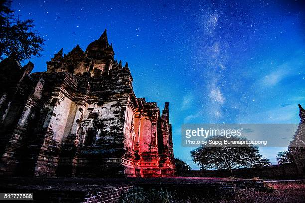 The Milky Way with Pagoda of Bagan
