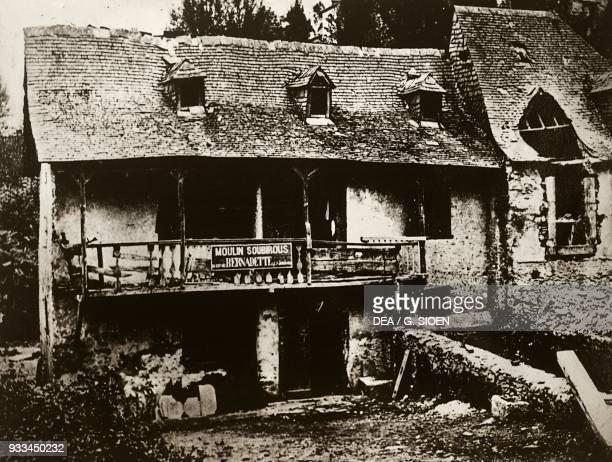 The mill known as Moulin de Boly, Bernadette Soubirous birthplace, ca 1865-1870, Lourdes, Languedoc-Roussillon-Midi-Pyrenees, France.