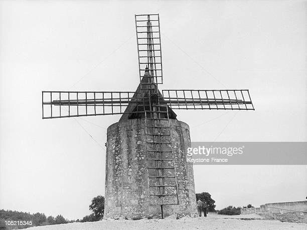 The Mill Of Alphonse Daudet In Fontvieille Bouches Du Rhone In 1960Fontvieille Is The Village Where Alphonse Daudet Wrote The Famous 'Lettres De Mon...