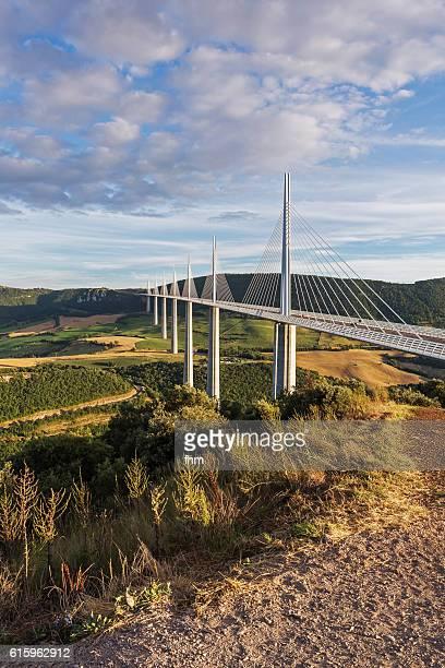 The Millau Viaduct (Tarn/ Midi-Pyrenees) - vertical view