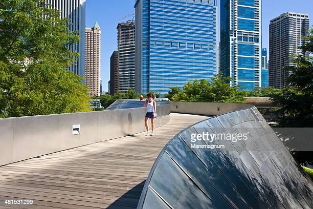The Millenium Park, BP bridge by Frank Gehry
