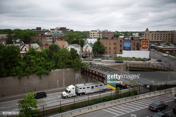 The Millennia development project at 20 Burling Lane far left stands across the New England Thruway in New Rochelle US on Tuesday May 30 2017...