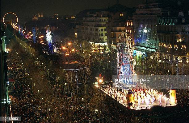 The Millennium night on the Champs Elysees in Paris France on January 01 2000