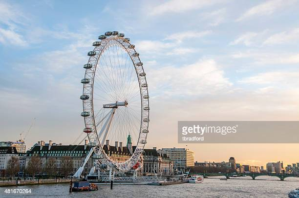 the millennium wheel in london, england - london eye stock photos and pictures